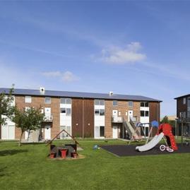 Odense socialfilantropiske boligselskab – Cykelhjelm med led lys