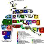 Kort over husene på Blangstedgård