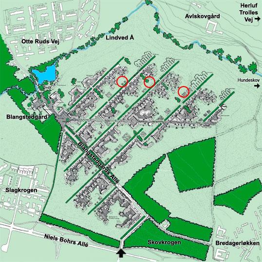 Kort over Blangstedgårds byhaver